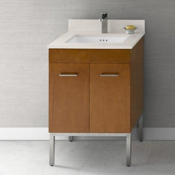 ronbow 037023 6 h01 venus 23 inch bathroom vanity base cabinet in dark cherry
