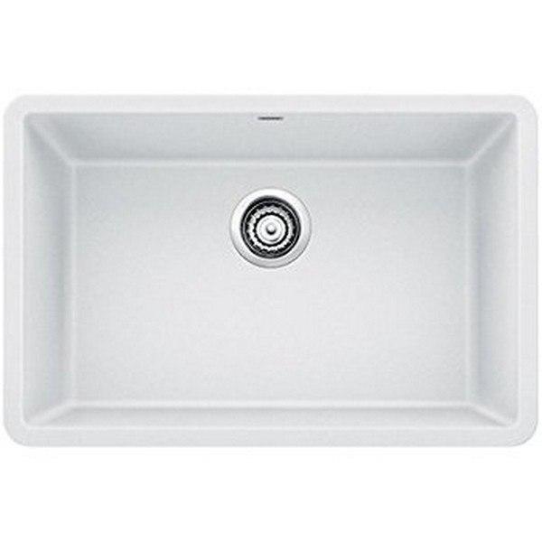 blanco 522429 precis granite 27 inch kitchen sink in white