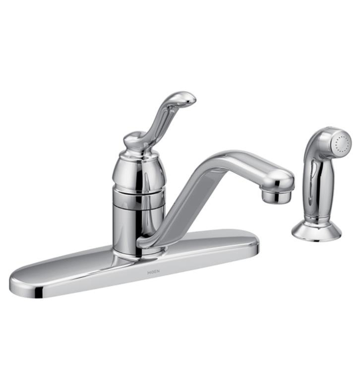 moen 7051 banbury single handle deck mounted kitchen faucet with side spray