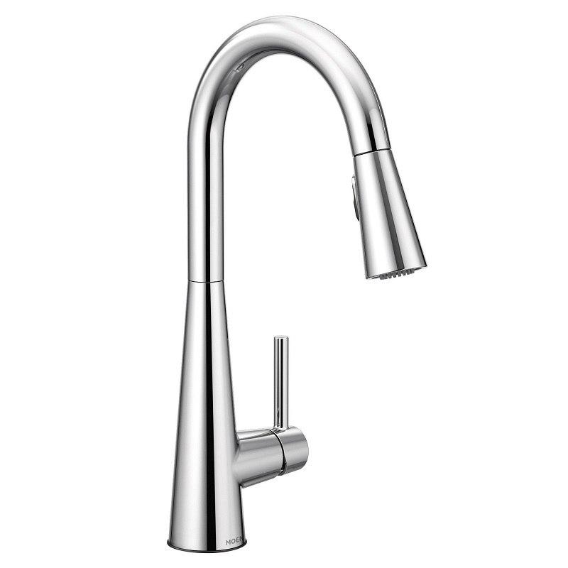 moen 7864 sleek one handle pulldown kitchen faucet