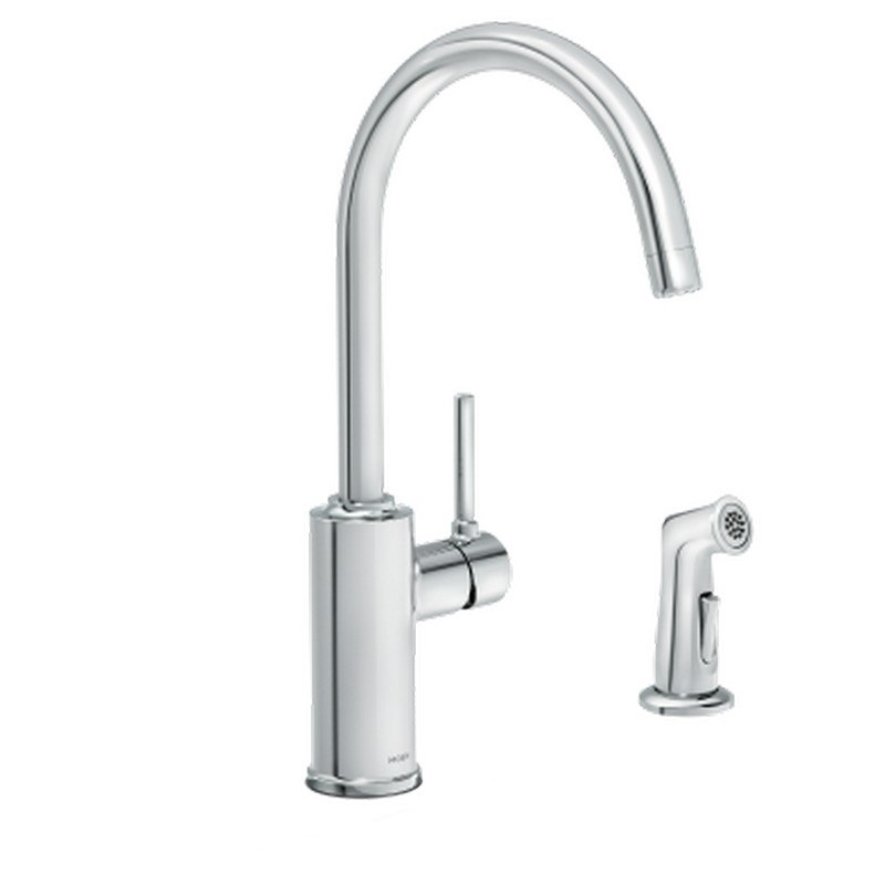 moen 87702 sombra one handle kitchen faucet with side spray