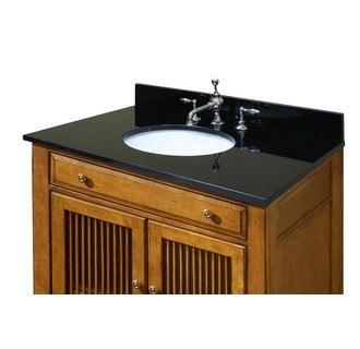 sagehill designs ow4922 mb midnight black 49 inch midnight black granite vanity top with 4 inch backsplash sink included