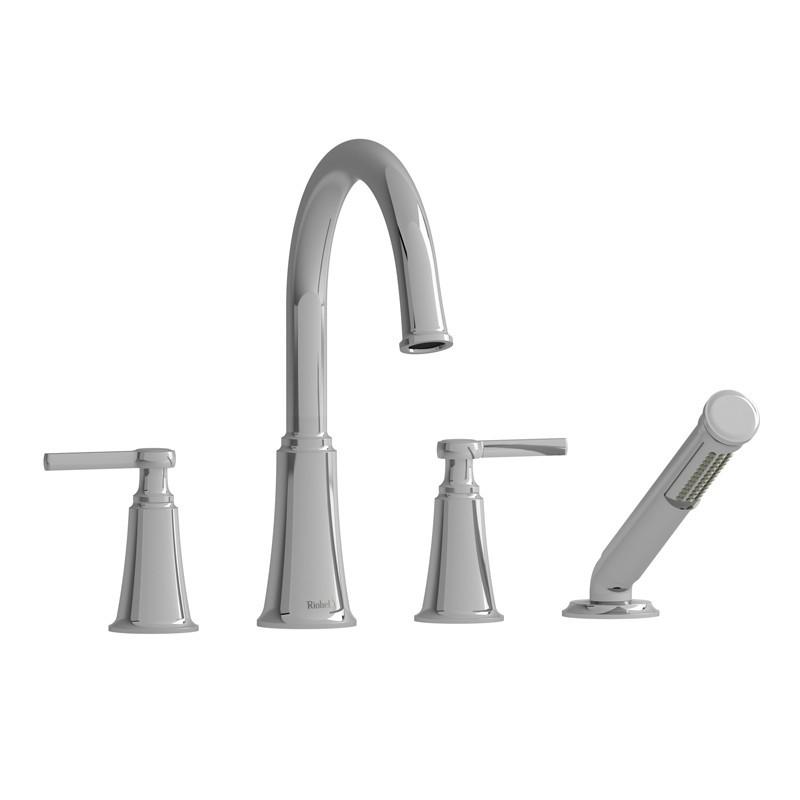pfister 806pd pasadena 8 5 8 inch two lever handles deck mount roman tub faucet