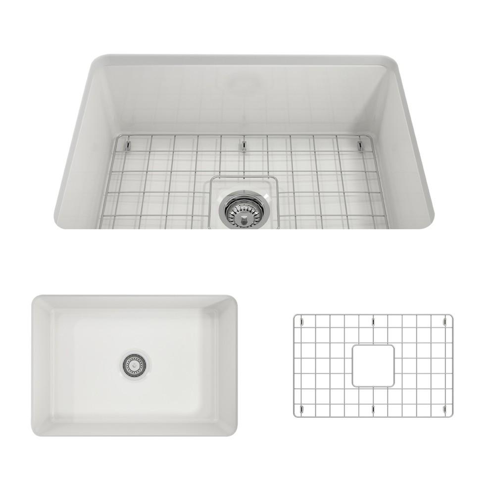 bocchi 1360 0120 sotto 27 inch undermount fireclay single bowl kitchen sink