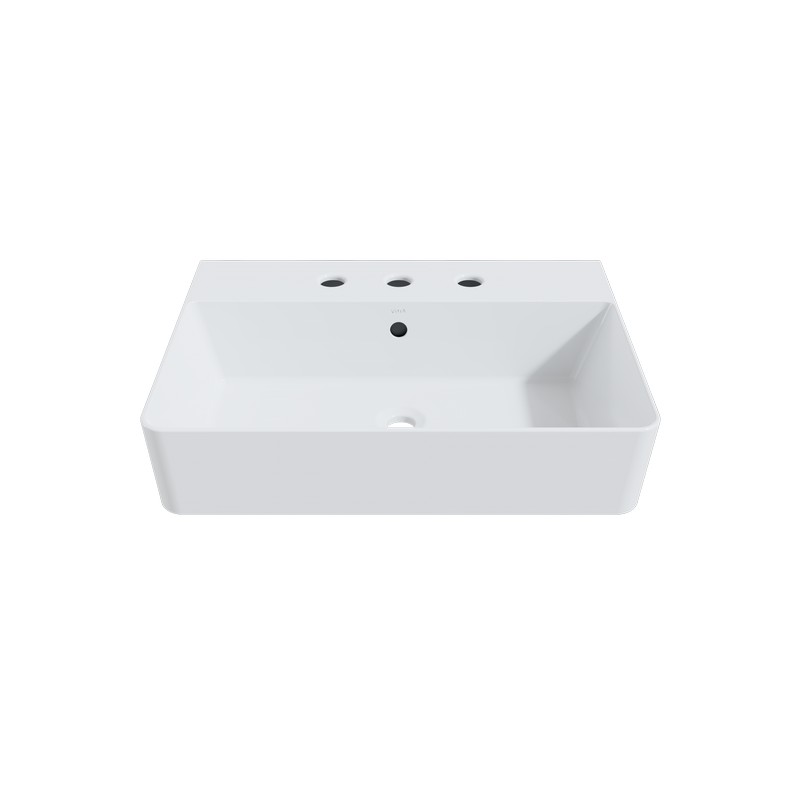cheviot 1293 wh 8 nuo 2 24 inch vessel sink in white with three faucet holes