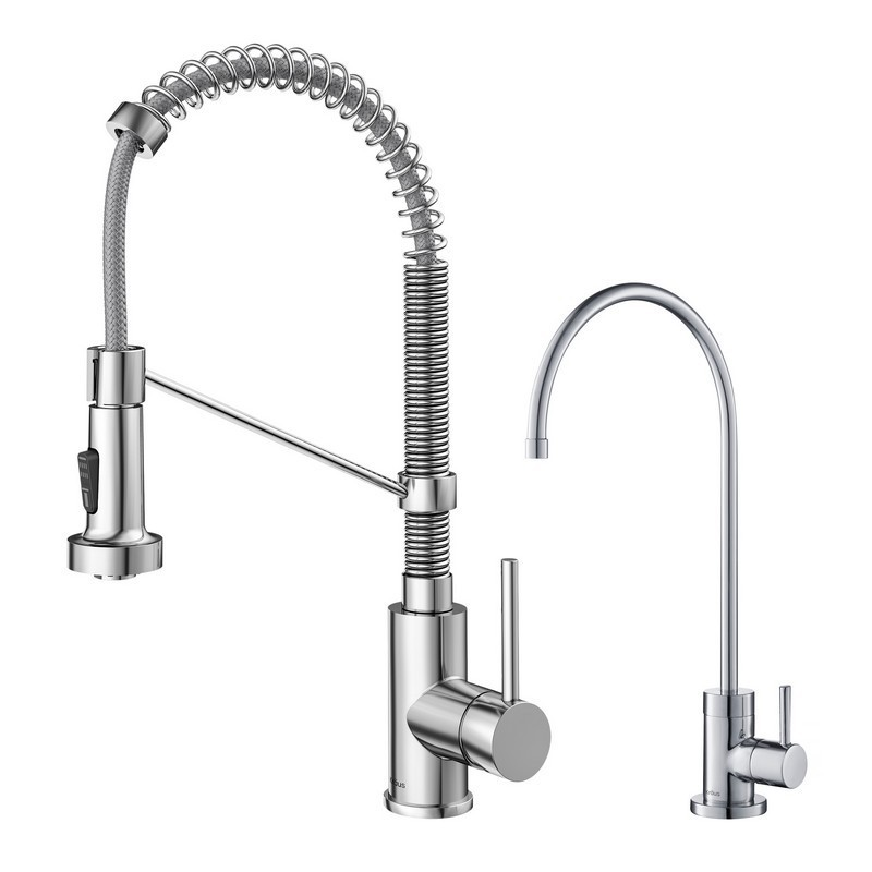 kraus kpf 1610 ff 100 bolden commercial style pull down kitchen faucet and purita water filter faucet combo