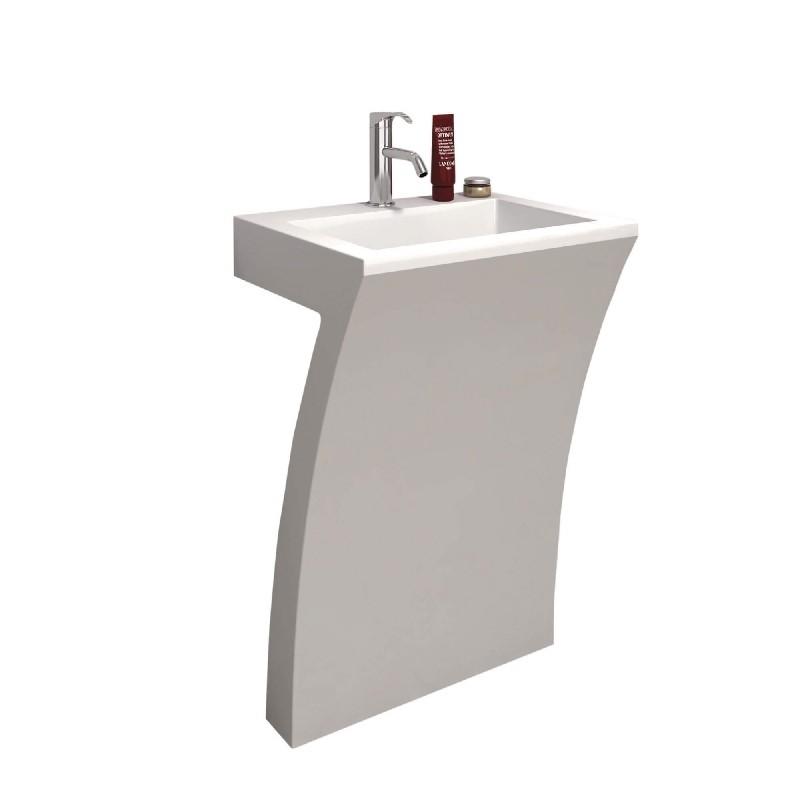 fine fixtures cf2218wac cedar falls 22 1 4 inch single hole pedestal bathroom sink white