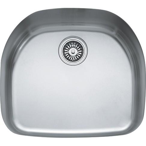 franke prx11021 22 inch undermount single bowl stainless steel sink w integral shelf