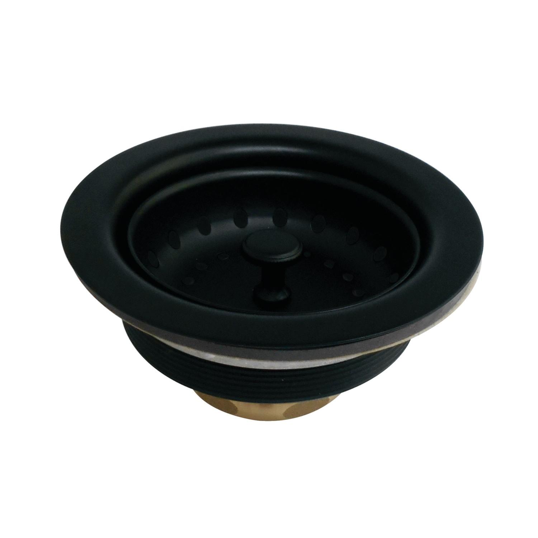kingston brass k111bmb tacoma stainless steel kitchen sink basket strainer matte black