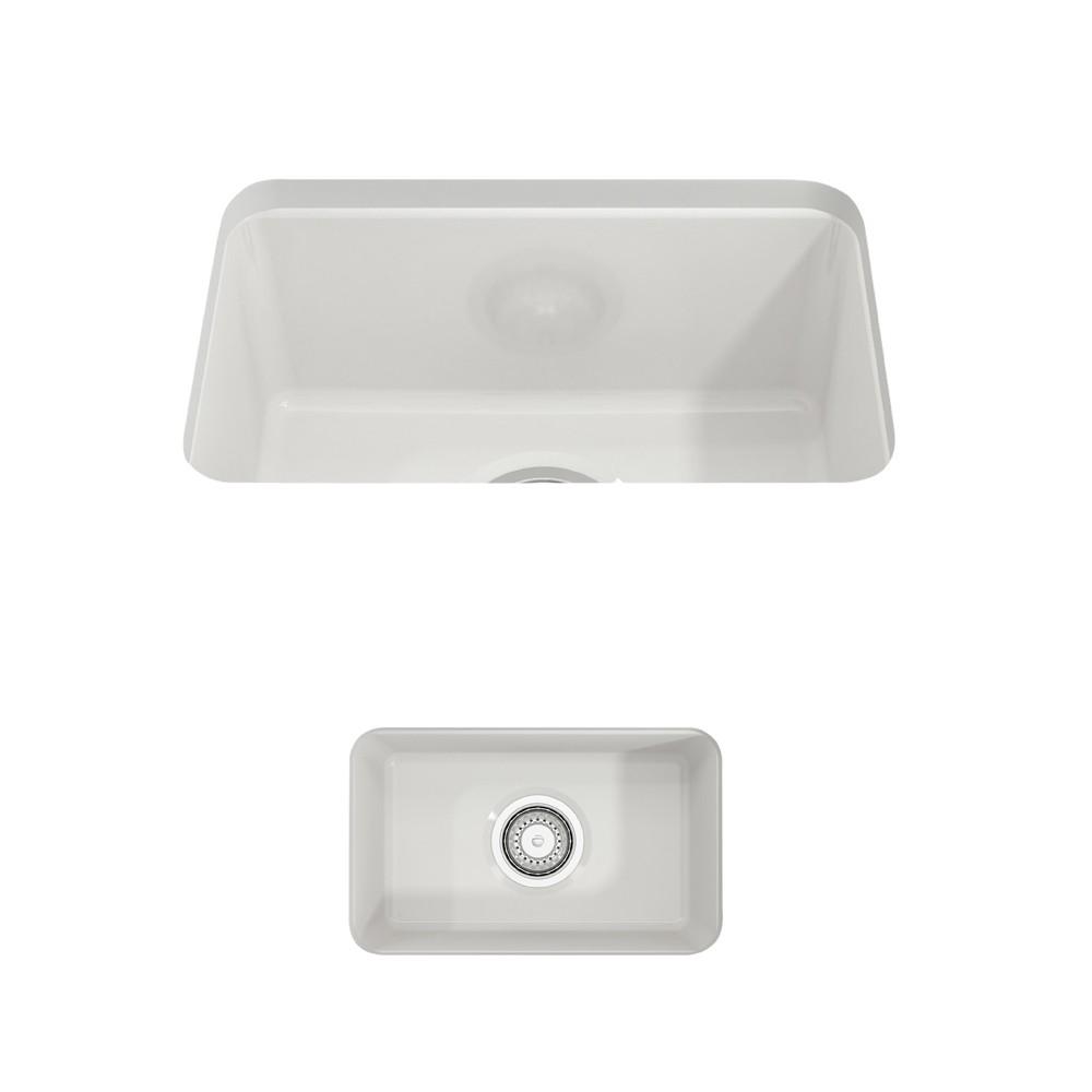 bocchi 1358 0120 sotto 12 inch undermount fireclay single bowl kitchen sink