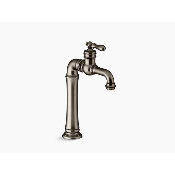 kohler k 72763 9m vnt artifacts gentleman s single handle bathroom sink faucet vintage nickel