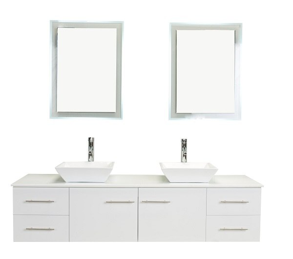 eviva evvn147 72 totti wave 72 inch modern double sink bathroom vanity with counter top and double sinks