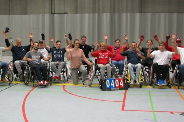 Newly formed Belgian Wheelchair Softball Teams already ready to play ball.