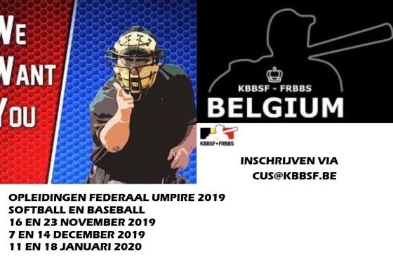 Umpire Clinics Baseball and Softball 2019 announced