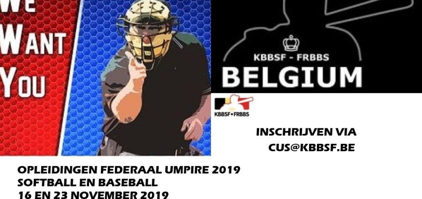 Umpire Clinics Baseball and Softball 2019 announced