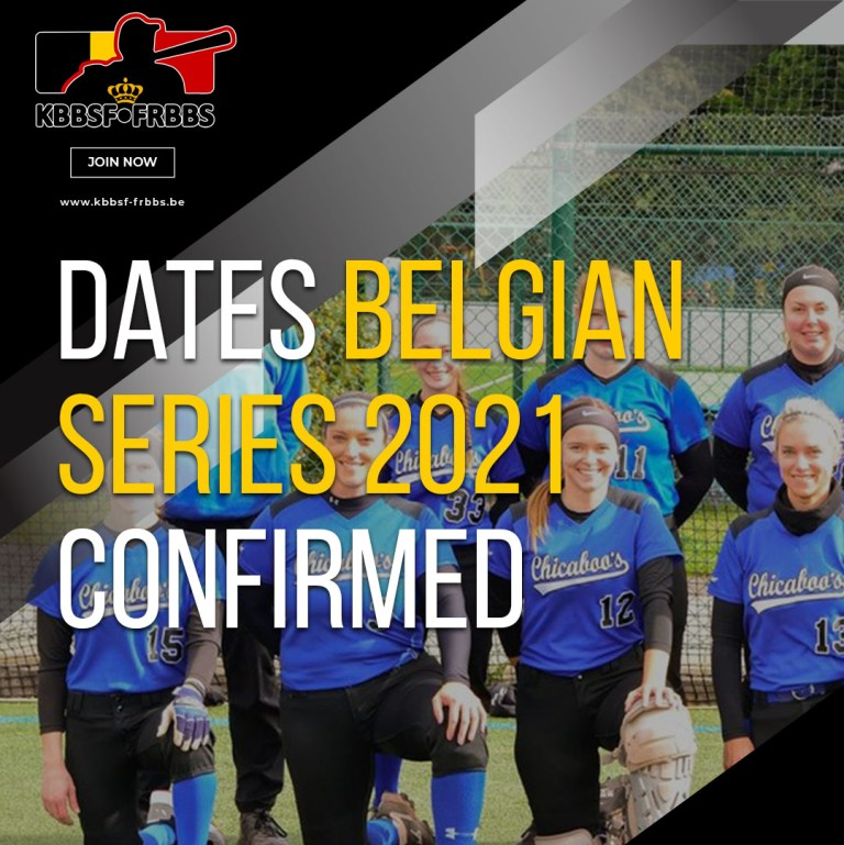 Dates Belgian Series Baseball and Softball confirmed for 2021