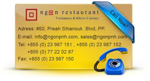 Contact NGOUN Restaurant