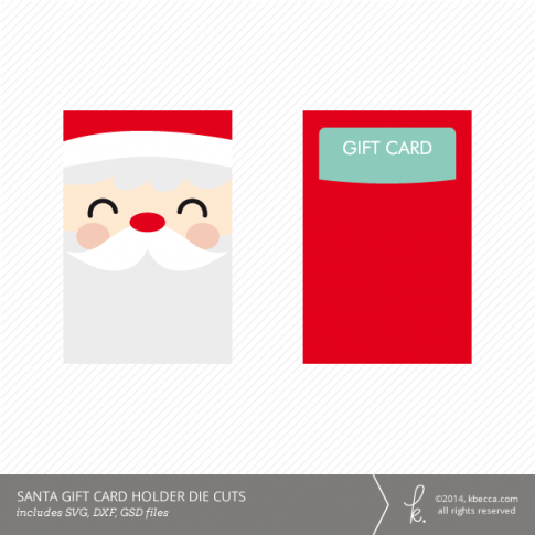 Santa Gift Card Holder Die Cuts SVG Included