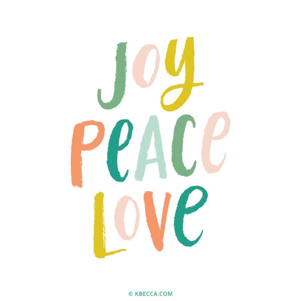 Download Brush Lettering Joy Peace Love Vector Clip Art