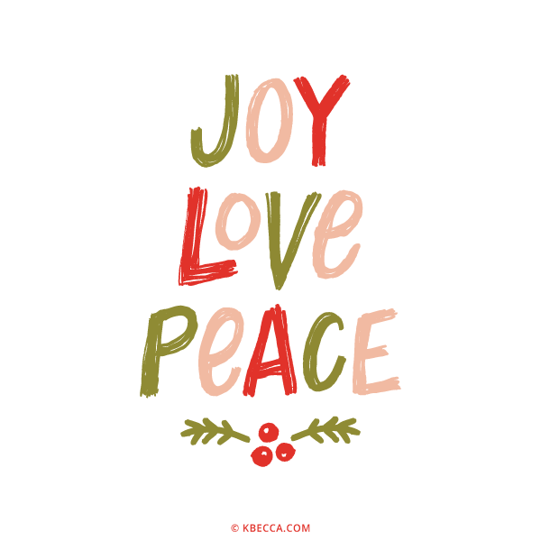 Download Hand Lettered Joy Love Peace Vector Clip Art