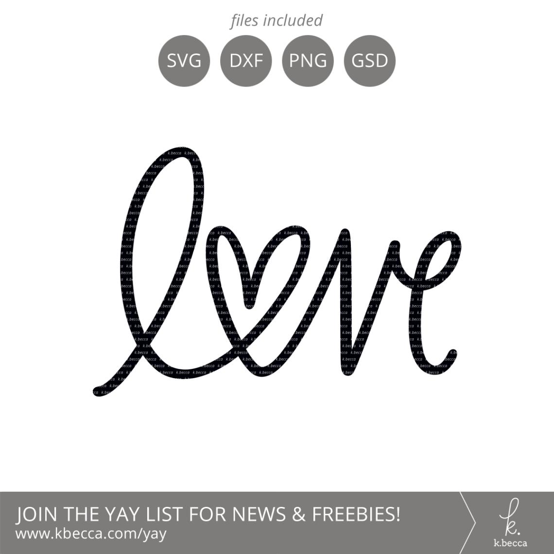 Download Love Heart Handwritten SVG Cut Files - Commercial ...