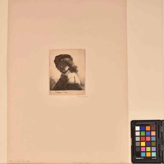 Zelfportret van Rembrandt, gravure vóór behandeling