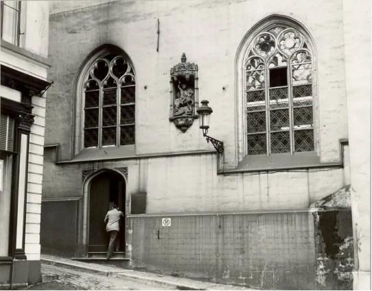 View of the chapel in the former rue Montagne de la Cour