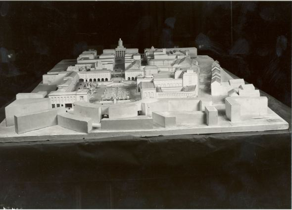 Scale-model of the redevelopment of the Mont des Arts