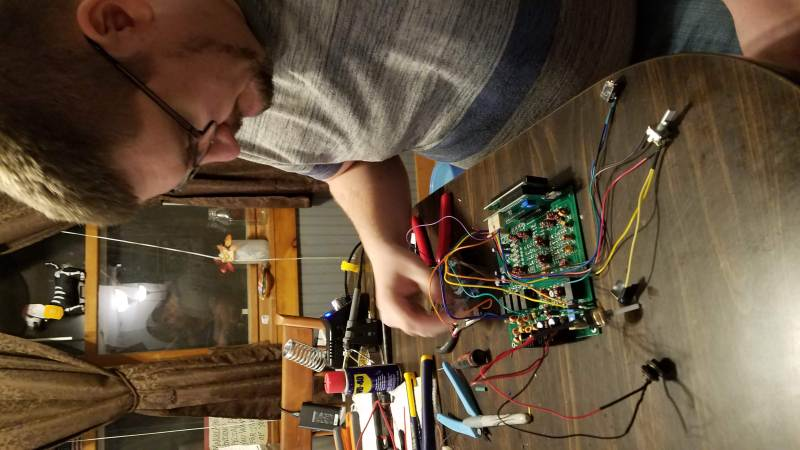 My brother Josh working on the uBitx