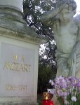 Wolfgang Amadeus Mozart's Grave at St. Marx Cemetery in Vienna