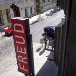 Entrance to the Freud Museum in Berggasse 19, 1090 Vienna, Austria.