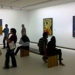 Miro Exhibition Visitors on a Saturday afternoon in Vienna's Albertina