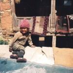 Child in High Mountain Village Annapurna Circuit
