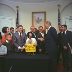 Pres. Lydon Johnson pardons the turkey in 1967