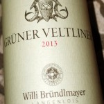 Bottle of Grüner Veltliner from Bründlmayer