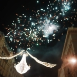 Fireworks on New Year's Eve over Graben in Vienna's 1st District