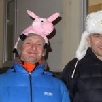 Hats are a must on New Year's Eve - the more outrageous, the better