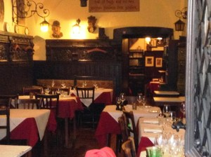 A dining room in the Griechenbeisl