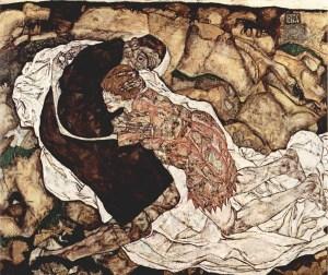 Der Tod and das Maedchen - Schiele