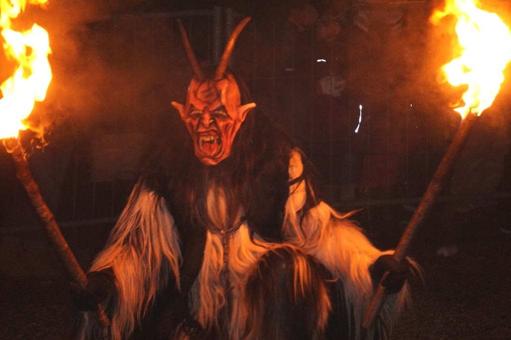 Fire bearing Krampus