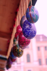 Easter Eggs at Schönbrunn Easter Market in Vienna