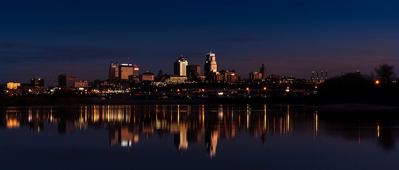 View of Downtown Seen from Kaw Point