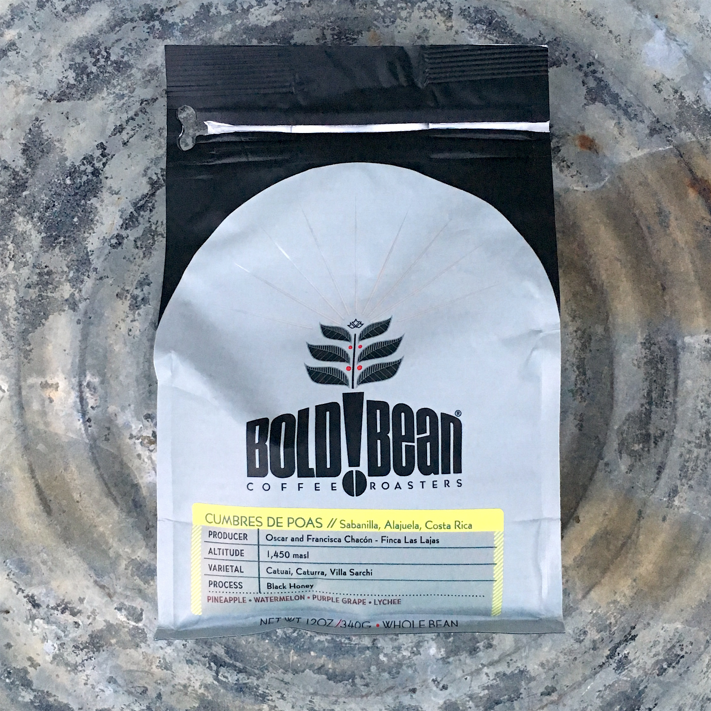 Bold Bean Coffee Roasters Costa Rica Cumbres de Poas Black Honey