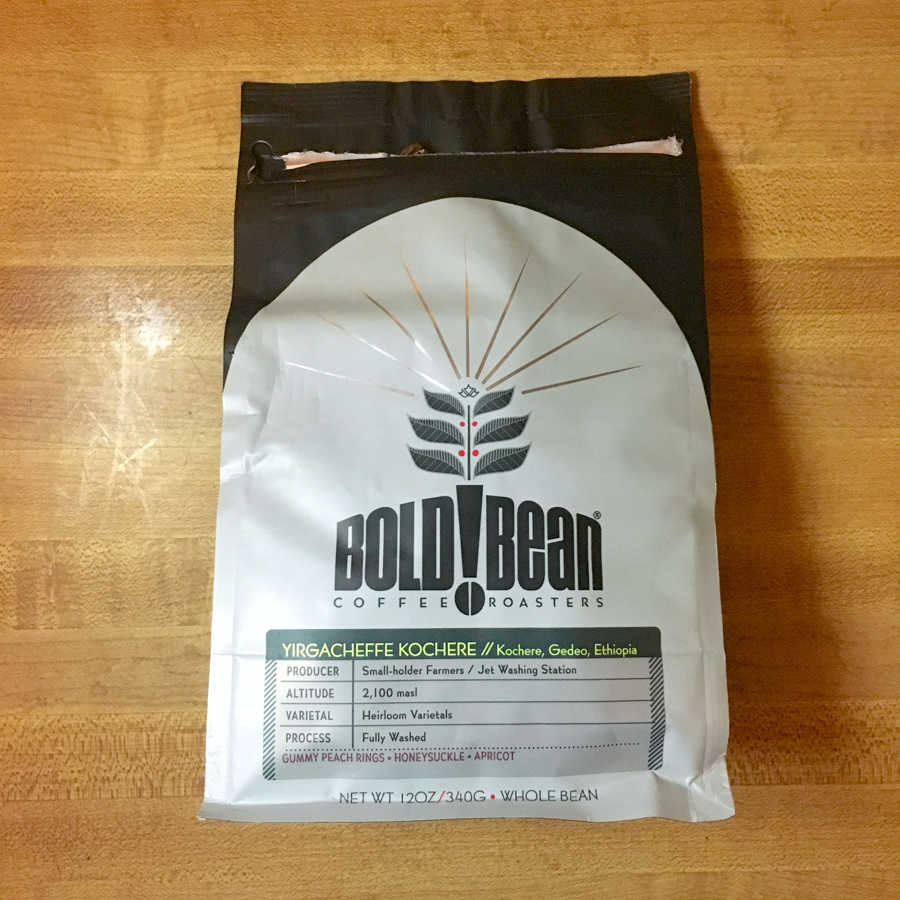 Bold Bean Coffee Roasters Yirgacheffe Kochere