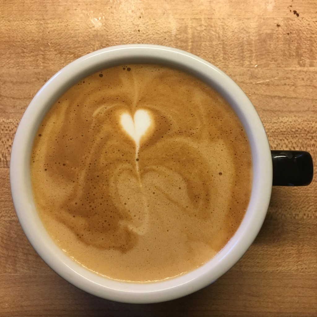 The mini-heart... the most challenging of all pours? LOL