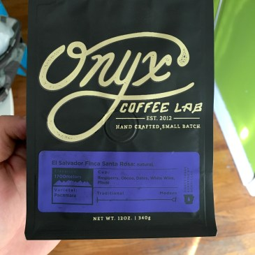 Onyx Coffee Lab El Salvador Finca Santa Rosa Natural