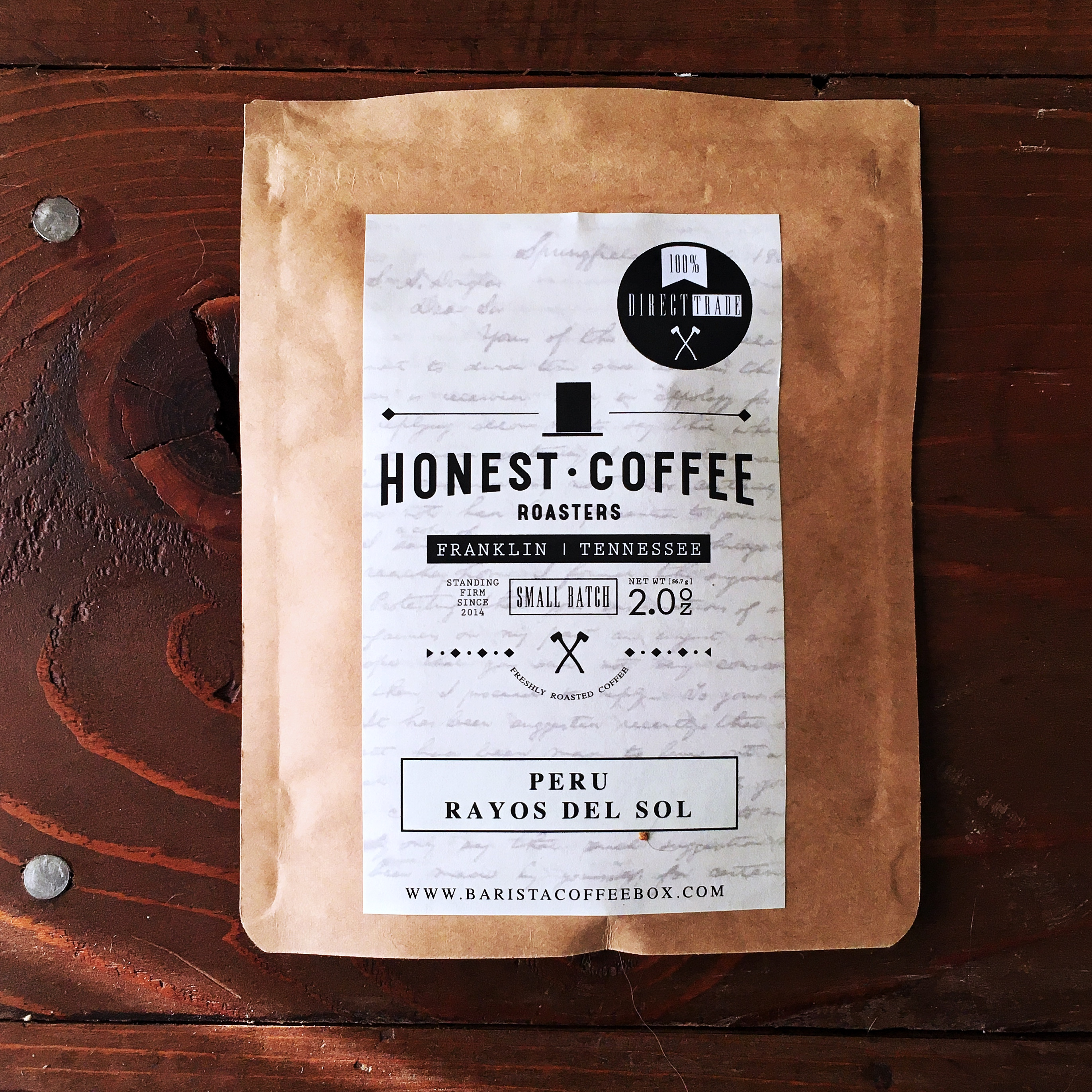 Barista Box x Honest Coffee Roasters Peru Rayos del Sol