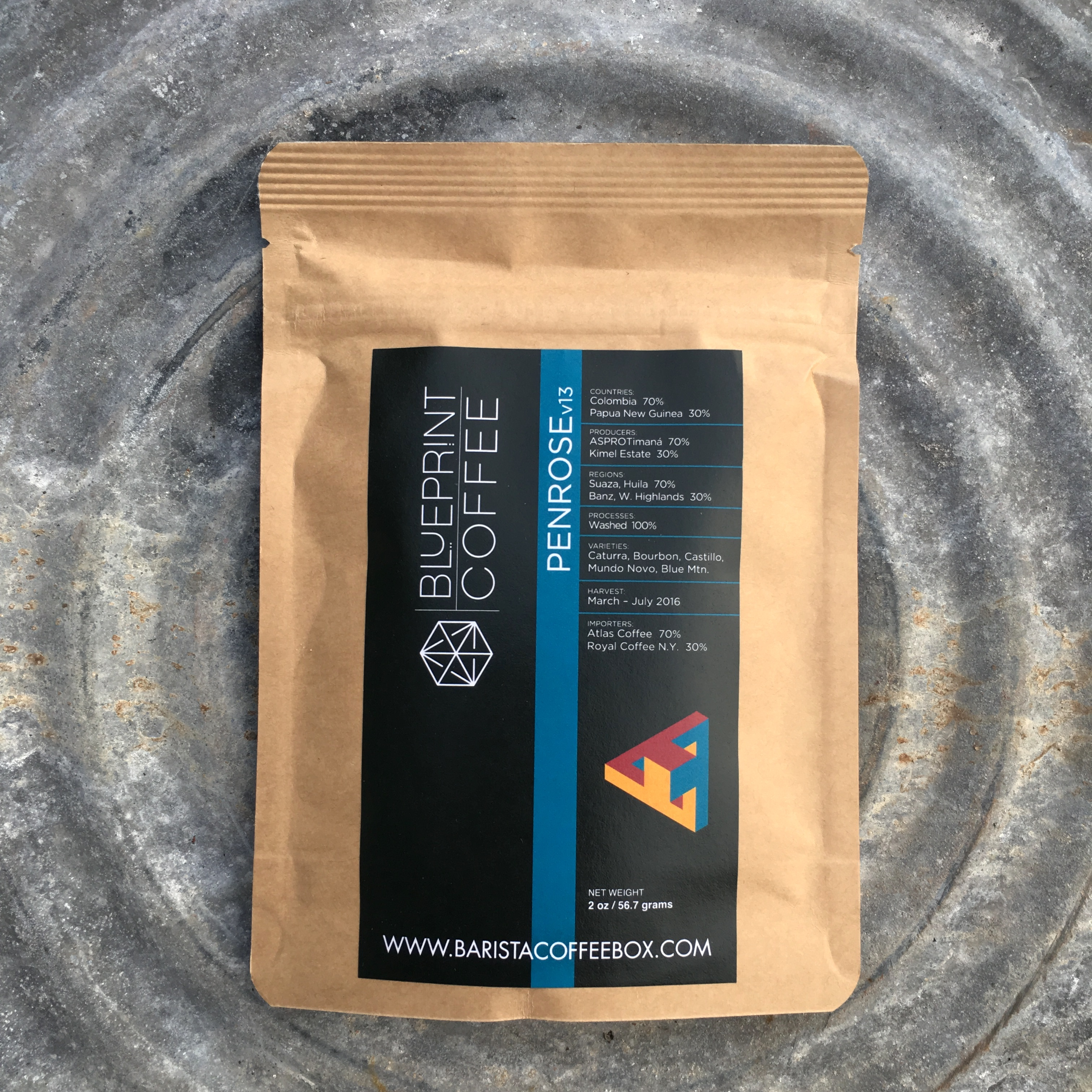 Blueprint coffee penrose v13 kc coffee geek weve arrived at the last of the coffees from julys barista coffee box another 2 component blend from blueprint coffee in st louis malvernweather Gallery