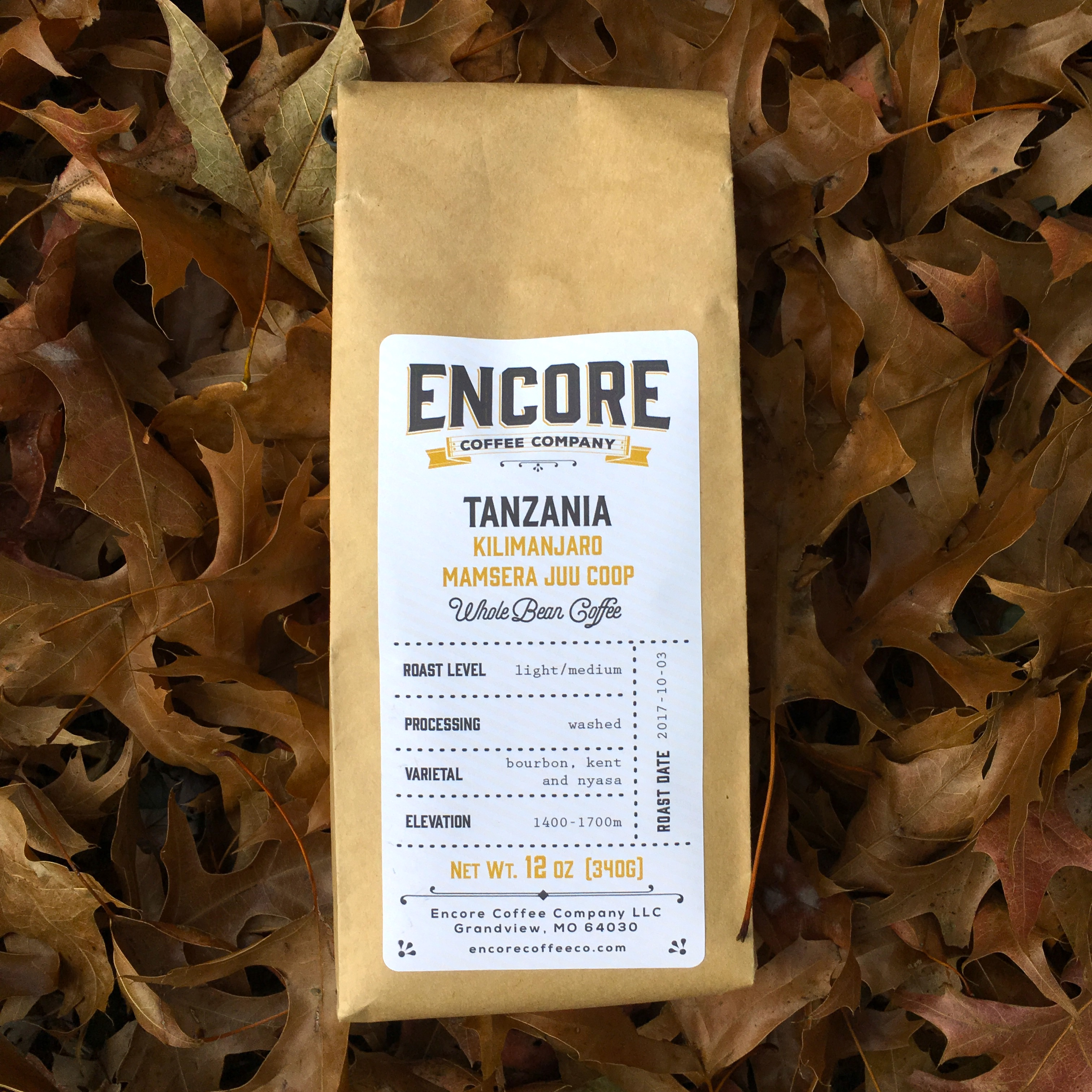 Encore Coffee Co. Tanzania Kilimanjaro Mamsera Juu Co-Op