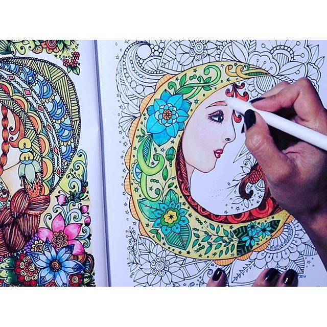 a coloring video is uploading in my youtube channel its a 40 min video its taking forever kcdoodleart adultcoloringpage coloring colors colorful - Flower Girl Coloring Book